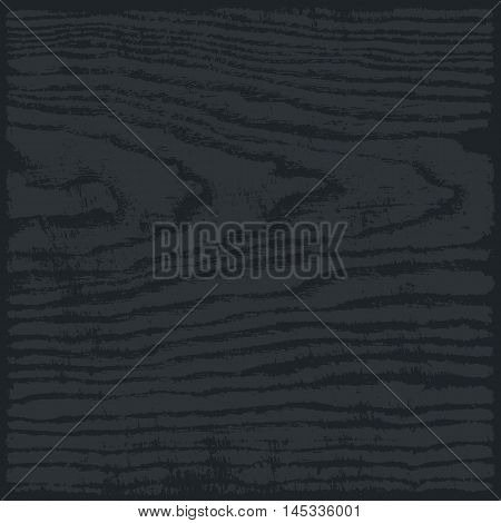 Black and gray color wood texture background in square format. Realistic plank with annual years circles. Empty natural pattern swatch template. Vector illustration design elements save in 8 eps