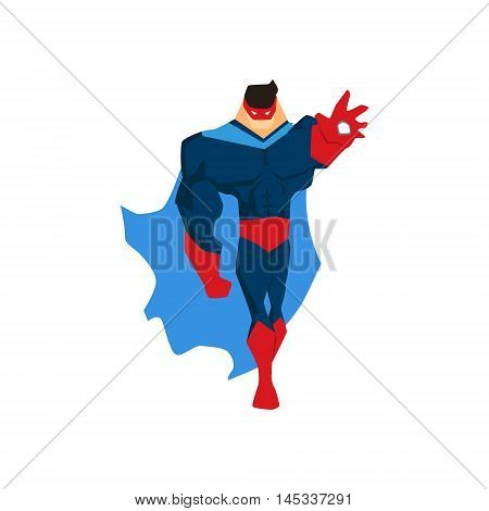Superhero in Action. Superhero silhouette in different poses vector