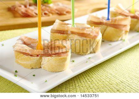 Ham on Baguette