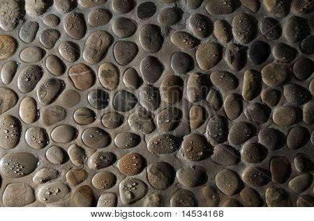 Piedra redonda mojada rocas textura