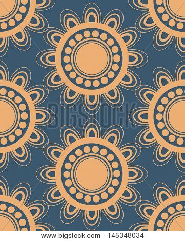 Seamless pattern in peach and blue colors perfect for gift papers and fabrics