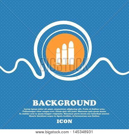 Bullet Icon Sign. Blue And White Abstract Background Flecked With Space For Text And Your Design. Ve