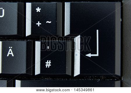 Backspace German Keyboard Button White Black Macro Letters Numbers