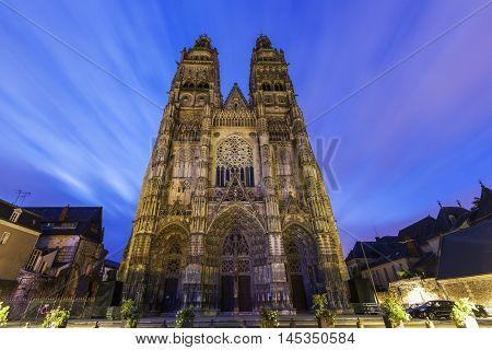 Tours Cathedral. Tours Pays de la Loire France