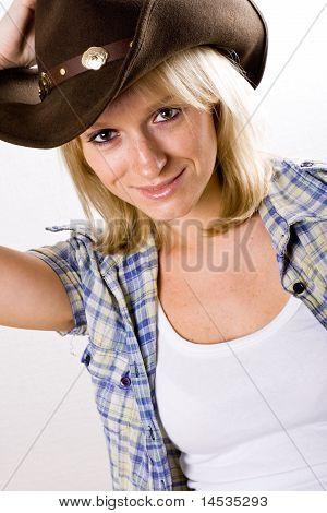 Pretty Western Woman