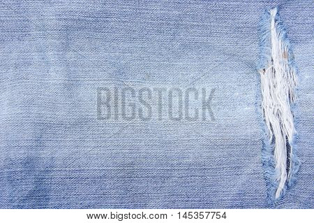 Texture Jeans deficiencies , background Old denim short style vintage