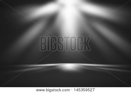 black gradient abstract background / dark grey room studio background / for background or wallpaper your product montage