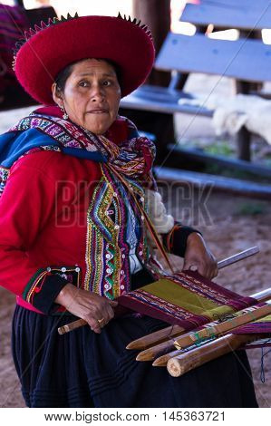 Weaver Woman In Chinchero