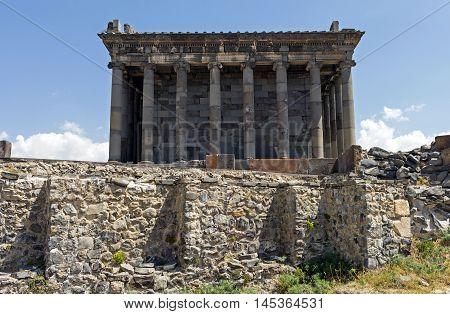 Ancient Garni pagan temple,1st century AD of Armenia.
