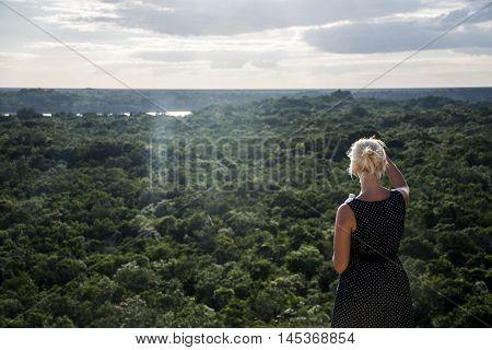 Coba Maya Ruins in Mexico Yucatan look inside the jungle 3