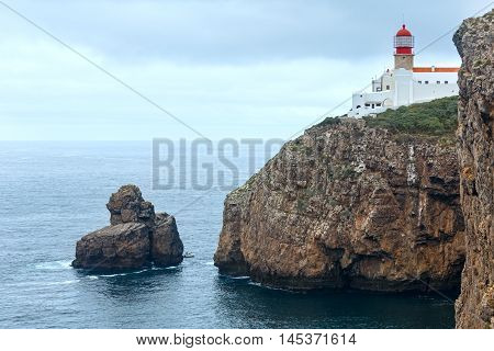 Lighthouse On Cliff (algarve, Portugal).
