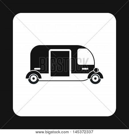 Tuk tuk taxi icon in simple style isolated on white background. Transport symbol