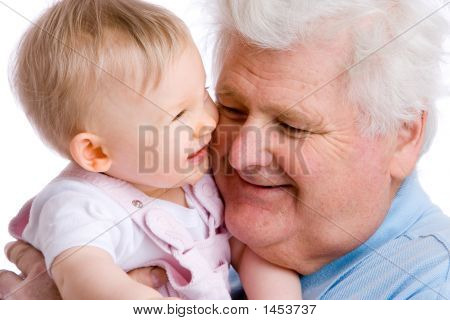 Smiling Baby With Gramps