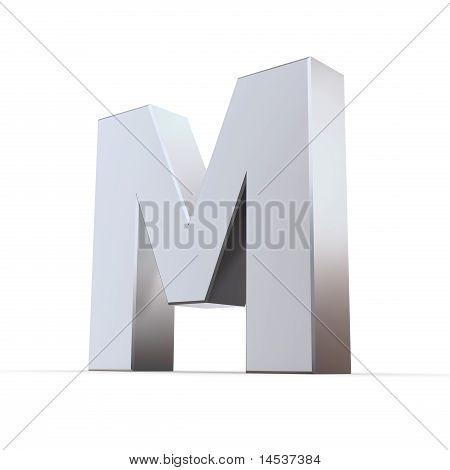 Shiny Letters M