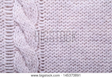 close up knitted wool texture can use as background