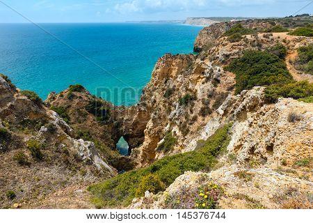 Atlantic Rocky Coastline (lagos, Algarve, Portugal).