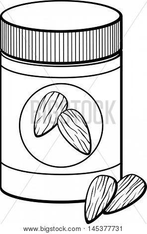 closed almond butter jar