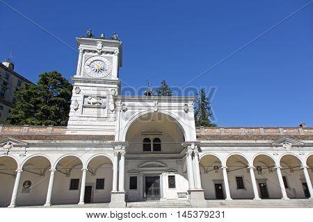 Udine Piazza della Libertà and the Loggia di San Giovanni clock tower
