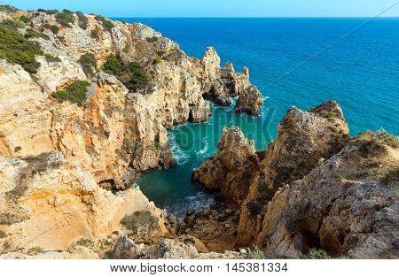 Atlantic Rocky Coastline (algarve, Portugal).