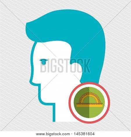 silhouette protractor geometry vector illustration icon eps 10