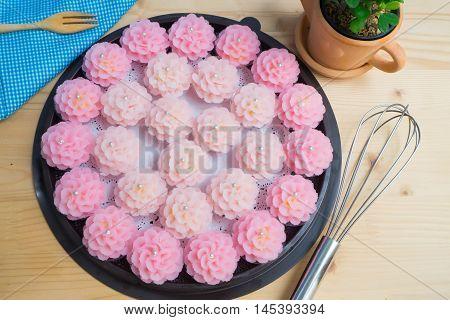 Asian sweet cake Phakakrong is Thai national modern dessert.