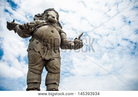 GaneshaHindu God and the god of successGanesha blue sky and cloud background