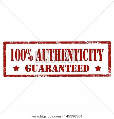 Grunge rubber stamp with text 100% Authenticity,vector illustration