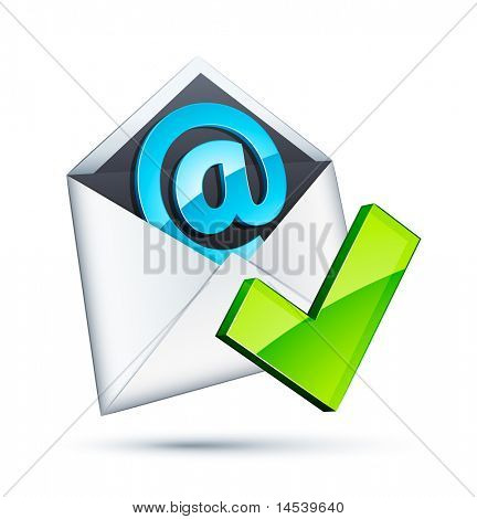 E mail icon and validation