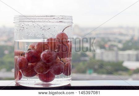 Grape Fruite In Water