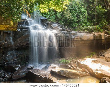 Little Rainforest Waterfall At Koh Kood