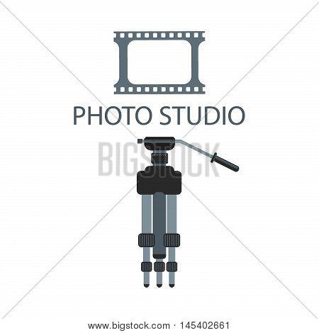 Photography logo design template sign design photography digital lens. Retro vector badge abstract technology photographer modern business. Photo studio modern business element.