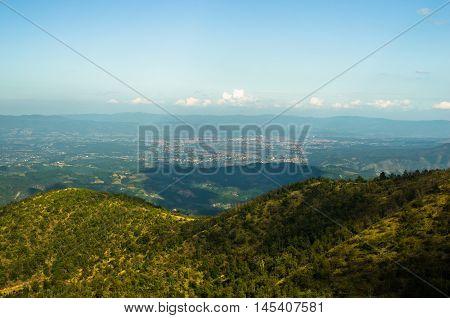 Landscape around Troglav mountain at late summer, west Serbia