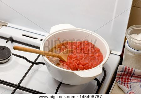 Cooking The Bolognese Sauce