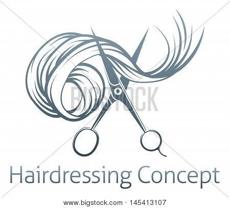 Hairdressers Scissors Concept