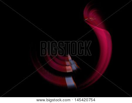 Abstract beautiful red fractal on black background
