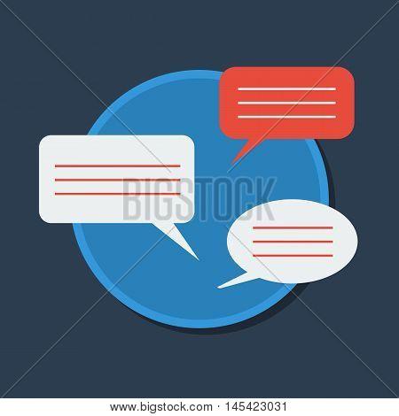 Dialogue icon flat design. Message box vector eps 10
