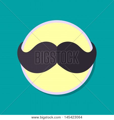 Flat icon mustache for your business vector illustration.