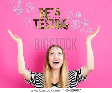 Beta Testing Concept With Young Woman