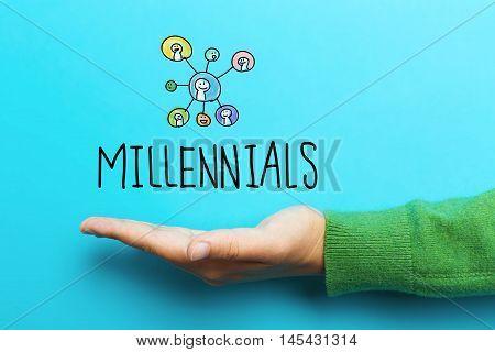 Millennials Concept With Hand