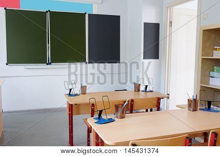 Interior of an empty school class