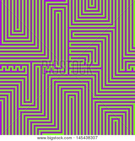 Luminous abstract lines seamless pattern. Vector illustration