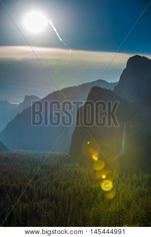 Sun Over Yosemite Valley