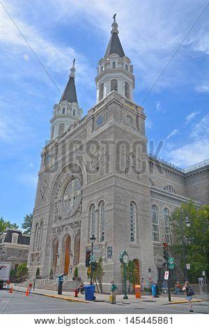 MONTREAL QUEBEC CANADA AUGUST 30 2016: Notre-Dame-des-Sept-Douleurs Church was the first francophone parish in Verdun.