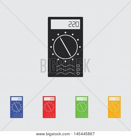 Multimeter Simple  vector icon for web and mobile