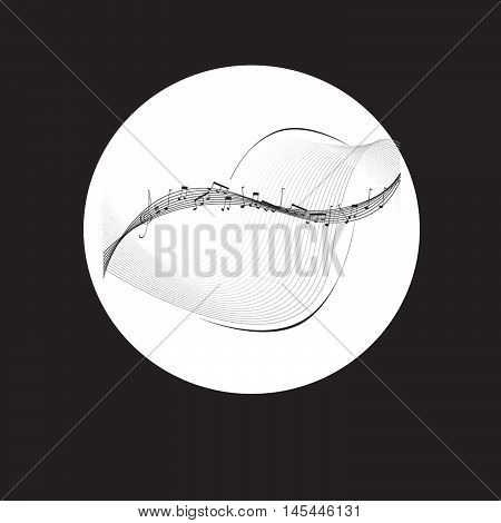 vector music illustration symbol culture isolated, musical.