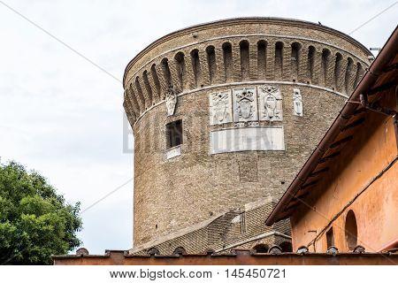 Castle Of Giulio Ii In Ostia Antica Site