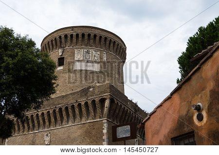 Castle of Giulio II Ostia near Rome