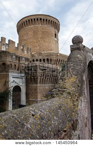Castle of Giulio II Ostia in Rome