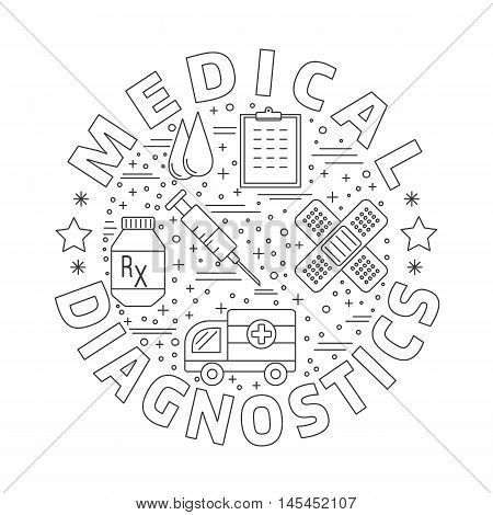 Medical Diagnostic, Checkup Graphic Design Concept