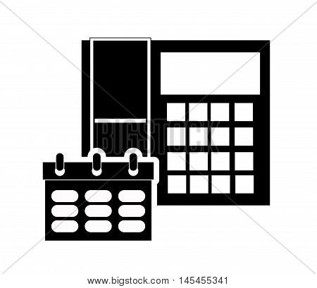 flat design telephone and briefcase icon vector illustration